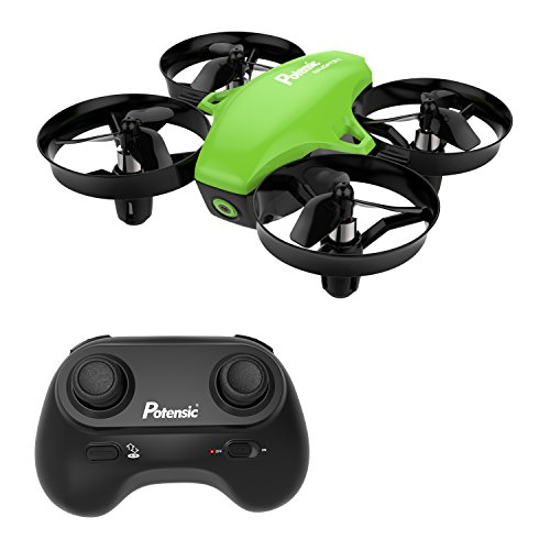 Mini Drone, Potensic A20 RC Nano Quadcopter 2.4G 6 Axis With Altitude Hold Function, Headless Mode Remote Control Best Drone for Beginners & Kids – Green