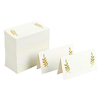 Best Paper Greetings Table Place Cards - 100 Piece Tent Cards, Table Decorations and Party Supplies for Romantic Wedding, Banquets, Bridal Shower, Celebrations and Events, 2 x 3.5 Inches, White