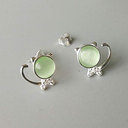 1 Pair Jewelry Gift Fashion Animal Design Stud Earrings Silver Earring Cat ()