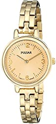 Pulsar Women's PM2086 Easy Style Collection Gold-Tone Stainless Steel Watch