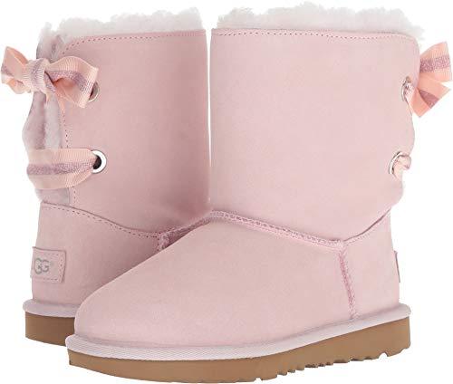 UGG Girls' K Customizable Bailey Bow II Fashion Boot, Seashell Pink, 2 M US Little Kid