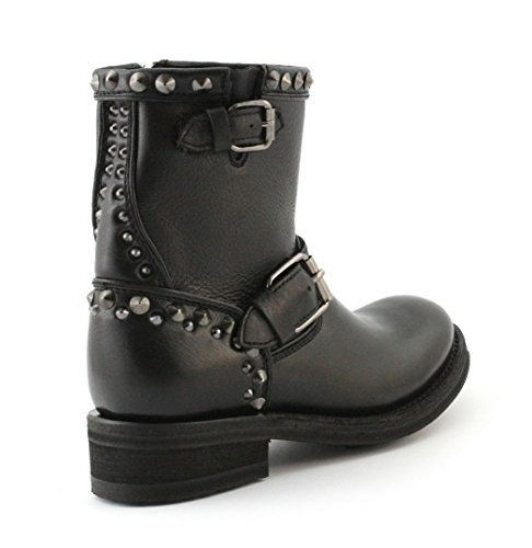 Nero Stivaletto BIS studs Black ASH Antic TRY Gun 001 BBqrZ8gpw