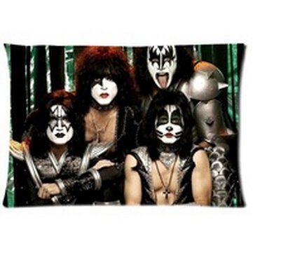 Pillow Band (Listing Pillow Cases Band Kiss 20x30inch Two Sides Pillow Covers for Bedding)