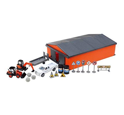 Kubota Excavator - Kubota Construction Vehicle Playset w/ Shed