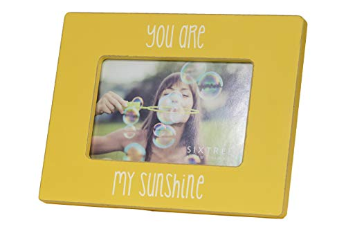 Sixtrees 4 x 6 inch You are My Sunshine Picture Frame, Yellow 4X6