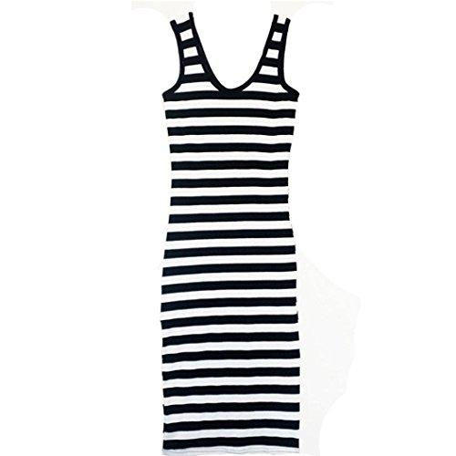 Kleid Transer® Damen/Mädchen Rundhals Lange Gemütlich Sundress Ärmellos Abendmode Festival Cocktail Picknick Party Zebra-Muster Kleider Gr.S-XXL für Mutter Tochter