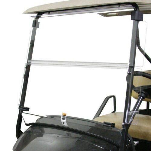 (7BLACKSMITHS Clear Fold Down Golf Cart Windshield Compatible with EZGO TXT 1994-2013 )