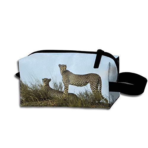 scakoko Adventure Wildlife Wild Cat Makeup Pouch Zipper Coin Organizer Durable Costmetic Bag ()