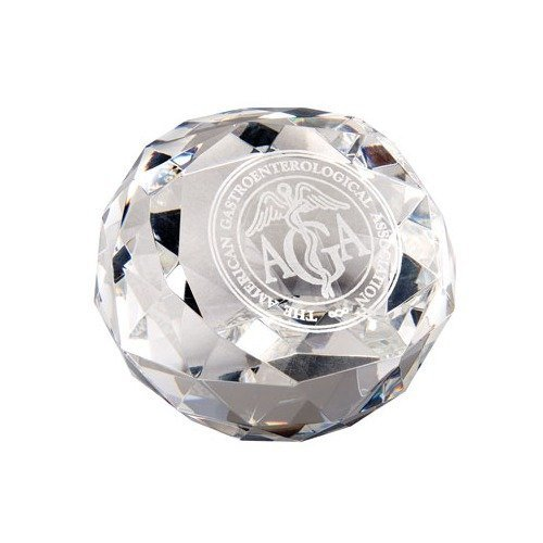 Diamond Cut Glass Award Paperweight by Chass (Award Glass Diamond)