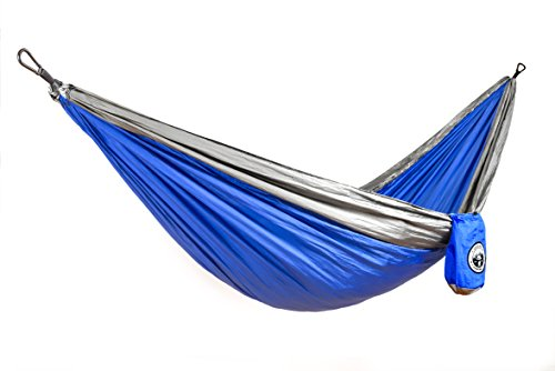 Double Parachute Portable Hammock – The Ultimate Backpacking Camping Accessory Made with Parachute Nylon Steel Carabiners | Compact Lightweight Easy to Pack - Original Camping Company by The Original Camping Co.