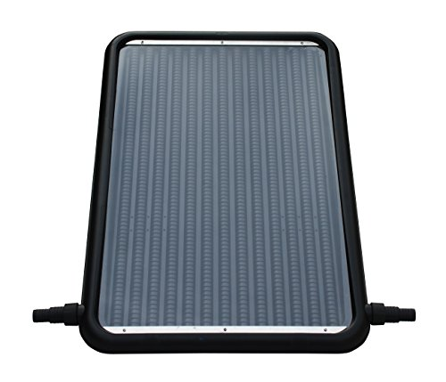 FlowXtreme NS1002 Flat-Panel Pool Solar Heater, Black