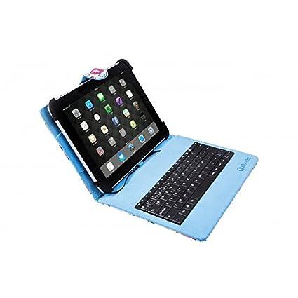 Silver HT 111916140199 - Funda Universal con Teclado MicroUSB para Tablet de 9