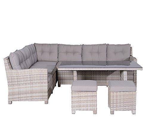 Garden Impressions Lounge/Dinner Set, 5-teilige Gruppe LA PAZ L/D -, passion willow, 250x203x85 cm, 07530GT