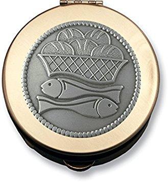 (Cathedral Art Polished Brass Pill/Keepsake Box, Loaves and Fish)