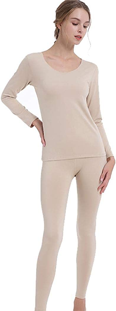 Autumn Winter Long Sleeve Warm Stretch Top /& Bottom Set Youandmes Womens Thermal Underwear Set