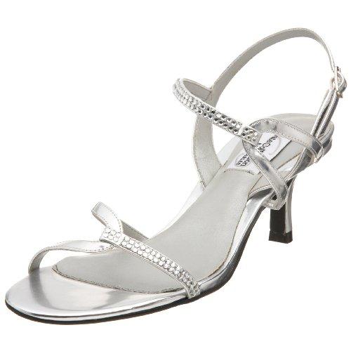 Dyeables Women's Alyssa Sandal,Silver,5.5 M US