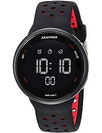Armitron Sport 40/8423BRD Reloj Unisex con Correa de Silicon, Cronógrafo Digital, Negro/Rojo