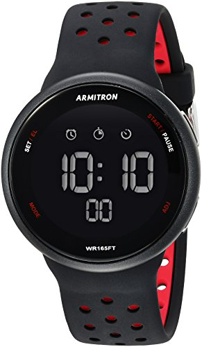 Armitron Sport Unisex 40/8423PBH Digital Chronograph Silicone Strap Watch