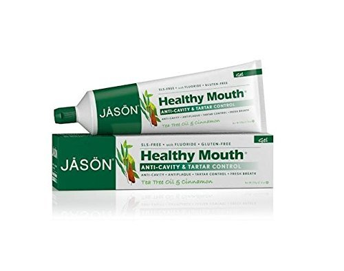 JASON Healthy Mouth Toothpaste Gel With Fluoride, Tea Tree Oil & Cinnamon, 6 (Jason Healthy)