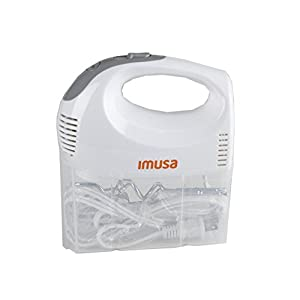 IMUSA USA GAU-80324W Hand Mixer with Case 5-Speed ,White