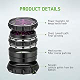 "VIVOSUN 2.5"" 4 Pieces Clear Top Herb Grinder"