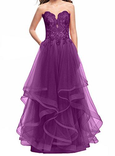 Damen Rock Abschlussballkleider Jaeger A Prinzess Promkleider Abendkleider Linie Gruen Spitze Charmant Lang Lila Abiballkleider dSwYd7