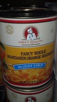 Chef's Quality: Mandarin Orange Segments 6/106 Oz Case