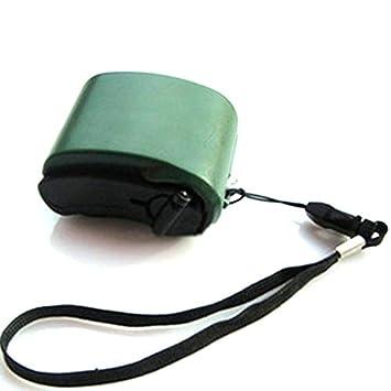 Panamami Mini manivela USB Radio Linterna Cargador de ...