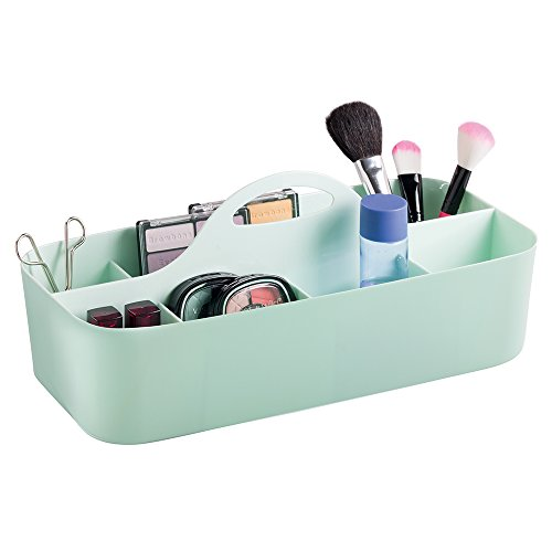 Cosmetic Organizer and Makeup Tote Caddy - Large, Mint