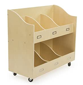 Amazon Com Displays2go Children S Bookshelf Cart With