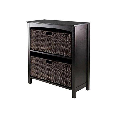 Winsome 3pc Storage 3-Tier Shelf w/ 2 Large Baskets by Winsome Wood