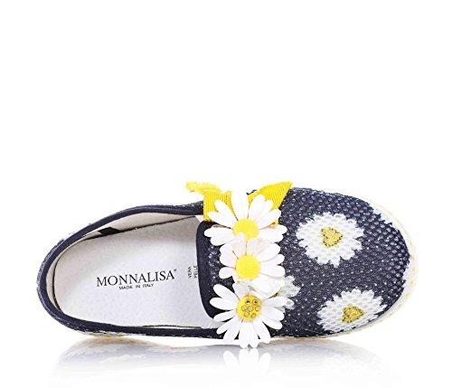 MONNALISA - Blaue Slippers aus Stoff, lustig und romantisch, Mädchen