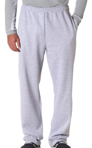 Jerzees Dri-Power Poly Pocketed Open-Bottom Sweatpants, X-Large - Ash
