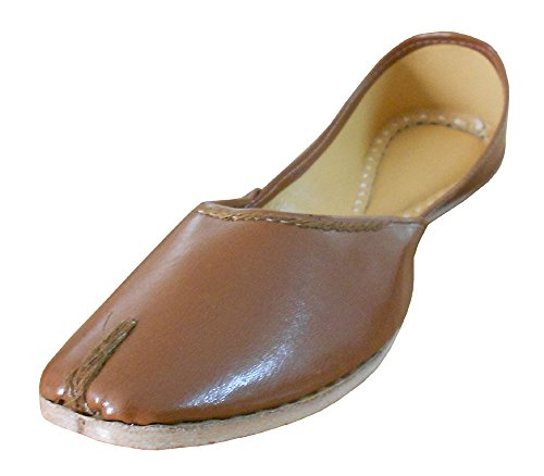 kalra Creations Femme Chaussures Casual en Cuir indien traditionnel Marron