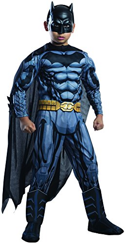 Rubie's Costume DC Superheroes Batman Child Deluxe Costume, Large (Big Man Costume Ideas)