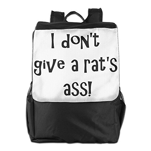 Rat Terriers In Costumes (Rongyingst I Don't Give A Rats Ass Messenger Bag Shoulder Backpack Travel Hiking Rucksack For Womens Mens Boys Girls School Bookbags One Size)