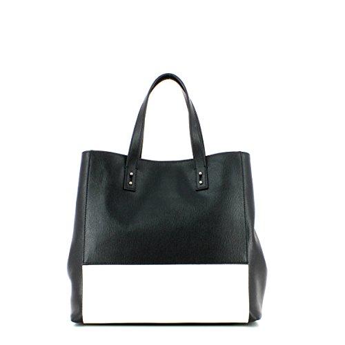 Leather Handbag NERO/BIANCO