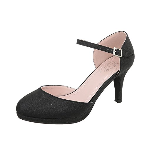 Lace Shoes at Ital Design Stiletto Black 5015 Up 20 Heels Women's Court SXSaxtgq