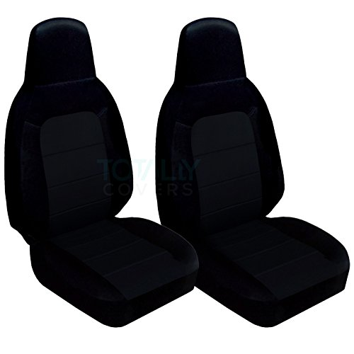 Totally Covers Fits 2006-2015 Mazda MX-5 Miata Seat Covers: Black (22 Colors) Seat Belt Holder & Side Airbag Compatible 2007 2008 2009 2010 2011 2012 2013 2014 Bucket