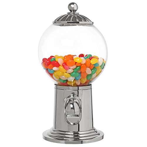 (10-Inch Desktop Refillable Gumball Machine, Vintage Style Candy Dispenser w/Clear Acrylic)
