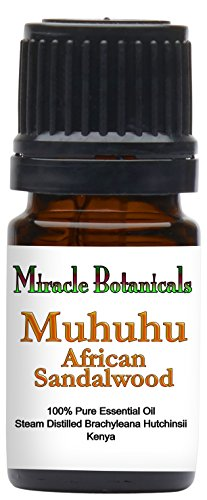 Miracle Botanicals Muhuhu - African Sandalwood Essential Oil - 100% Pure Brachyleana Hutchinsii - Therapeutic Grade - 5ml 100% African Essential Oil
