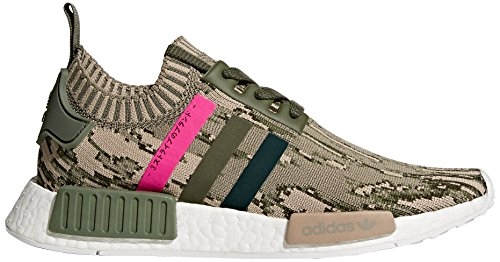 adidas Originals Women's NMD_R1 W PK Sneaker, St Major/Green Night/Shock Pink, 10.5 M US by adidas Originals