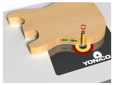 Yonico 14135 Pattern/Flush Trim Router Bit with 2-1/2-Inch Cutter Top and Bottom Bearing 1/2-Inch Shank