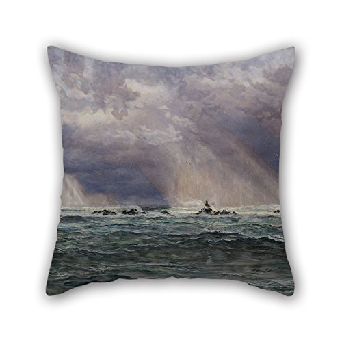 Bamboo Double Tree Cross (Pillow Shams Of Oil Painting John Brett - A North-West Gale Off The Longships Lighthouse 18 X 18 Inches / 45 By 45 Cm Best Fit For Dining Room Bf Husband Floor Kids Gril Friend Twice Sides)