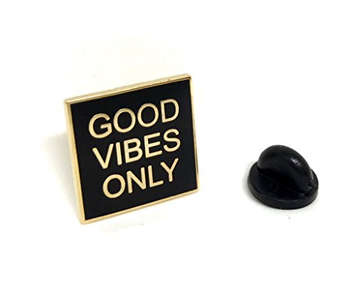 PinMaze Good Vibes Only Lapel Pin - Inspirational Message for Shirt Hat Hooddie