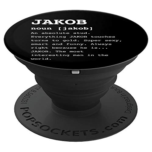 c9c8143ad40 Jakob Gifts for Anyone Named Funny Gifts for Guys - PopSockets Grip and  Stand for Phones