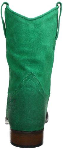 HIP D1887 Green Burned Suede - Botines de cuero mujer verde - Grün (Green)