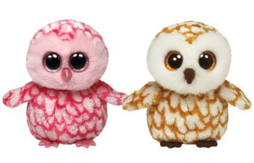 Ty Beanie Boos Owls Swoops and Pinky set]()