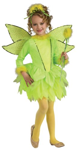 [Deluxe Girls Light-Up Tinker Bell Costume - Child Small] (Child Deluxe Peter Pan Costumes)