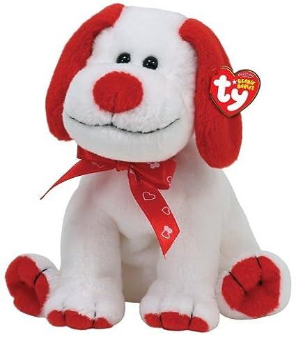 7c69cb886bb Amazon.com  TY Beanie Baby Heartbeat - White Sitting Dog with Ribbon ...